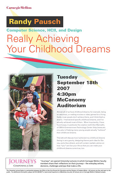 Pausch's Lecture Poster