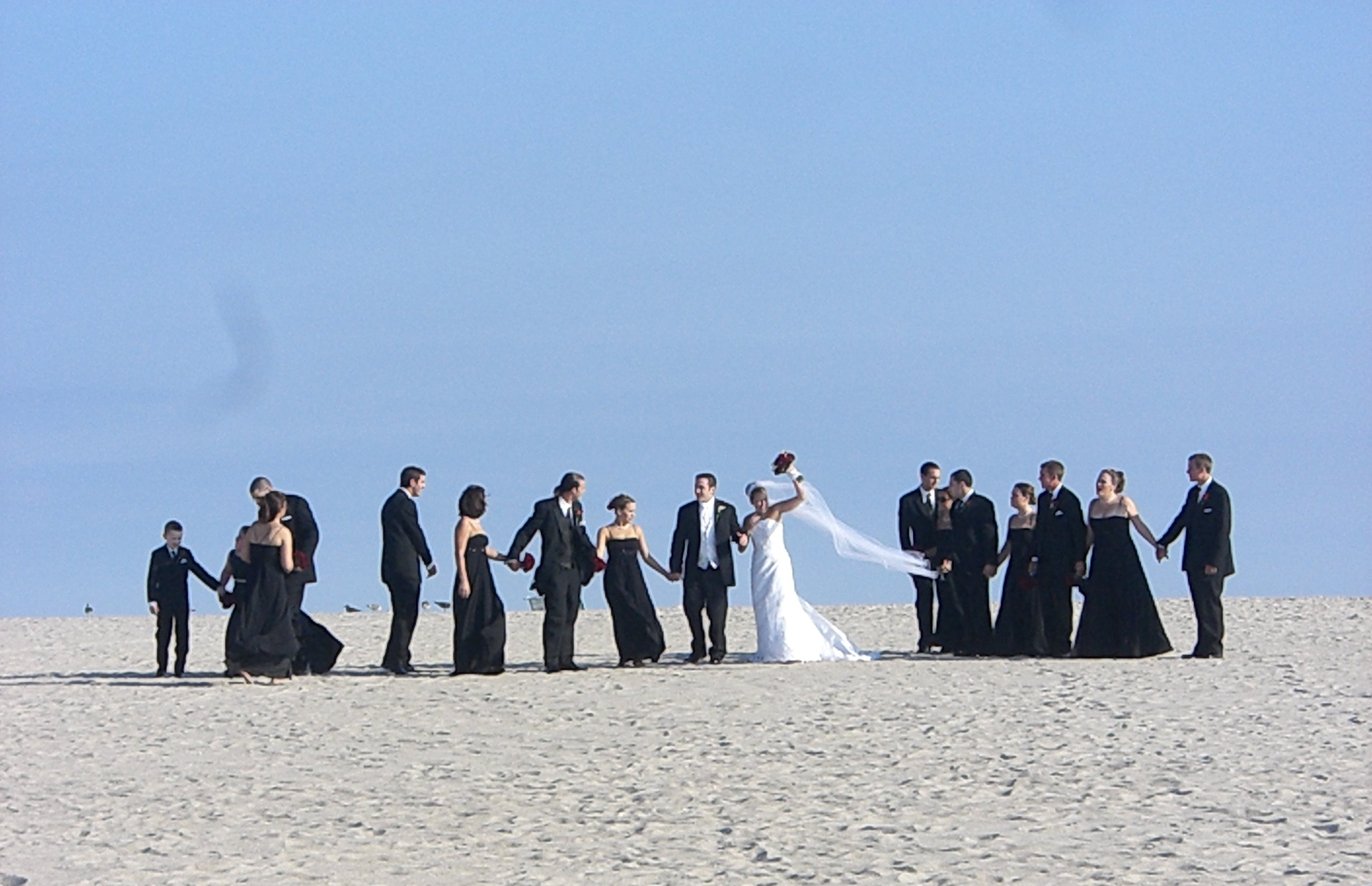 Its not the beach without a wedding