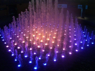 Fountain - blue-purple